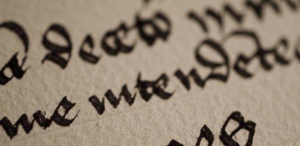Detail Handschrift