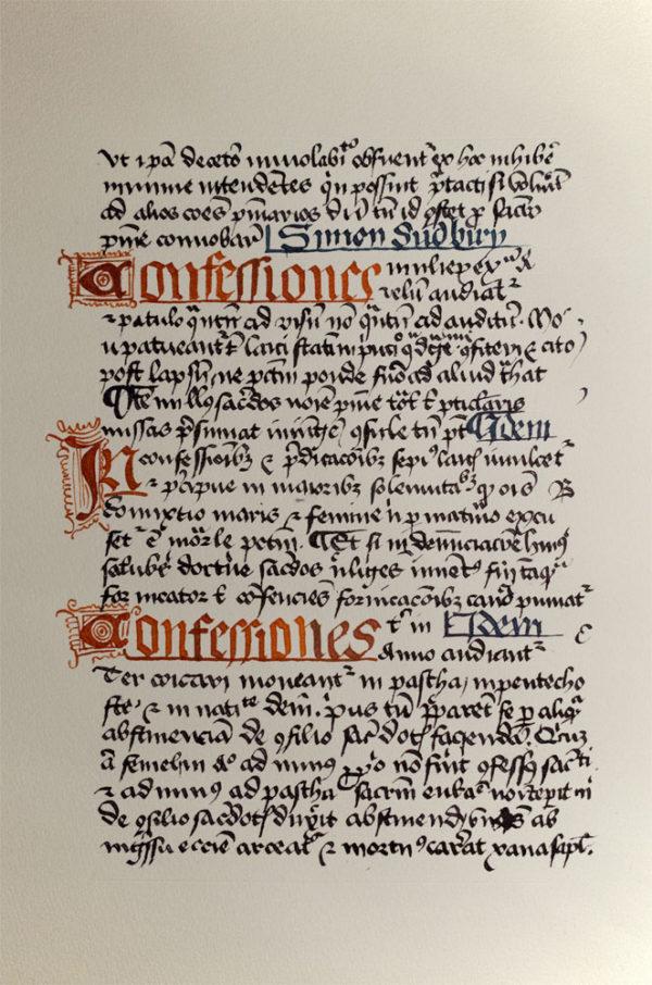 Handschrift nach historischer Vorlage